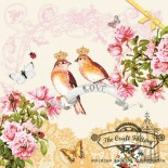 Салфетка за декупаж Love Birds
