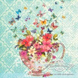 Салфетка за декупаж Cup of Flowers
