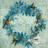 Салфетка за декупаж Венец от цветя