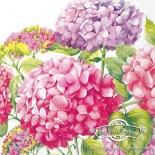 Салфетка за декупаж Хортензии в розово