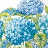 Салфетка за декупаж Хортензии в синьо