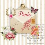 Салфетка за декупаж Писмо от Париж