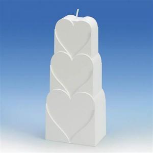 Форма за свещи с мотиви - сърца