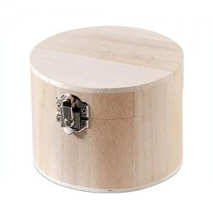 Дървена кутия Кръгла
