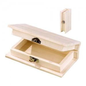 Дървена кутия тип книга