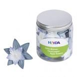 Хартиени цветя Heyda Синьо и бяло