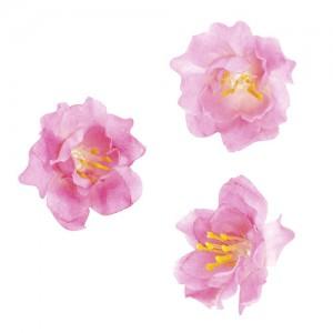 Розови цветчета за декорация, 36 бр.