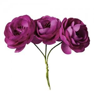 Розички от плат, розови - 9 бр.