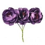 Розички от плат, лилави - 9 бр.