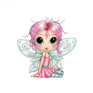 Гумен клинг печат Wee Winged One Fairy