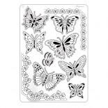 Шаблон Pergamano Multi Grid 17 Пеперуди