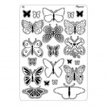 Шаблон Pergamano Multi Grid 31 Пеперуди 2