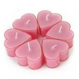 Чаени свещи Розови сърца