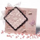 Пергамано картичка в розово