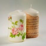 Декоративни свещи с декупажна техника