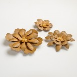 Цветя от хартия - Дървени цветя