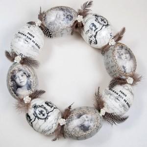 Великденски венец от яйца