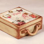 Дървено куфарче Писмо от Париж