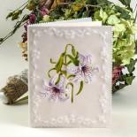 Пергамано картичка с цветя