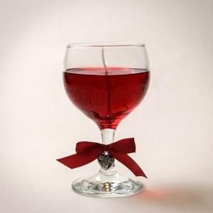 Гел свещ Чаша вино